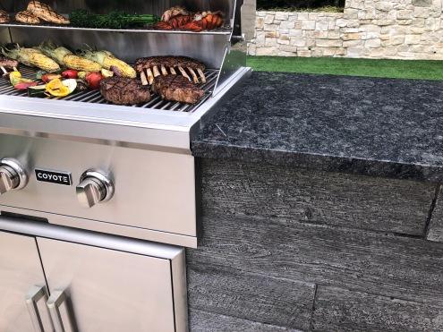 Gray Weathered Wood/ Steel Gray Granite